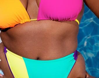 Bright Delight 2 Bikini Swimsuit S M L 1X 2X 3X/ Plus Sizes
