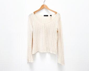 Vintage Cashmere Scoop Neck Sweater - Size Large