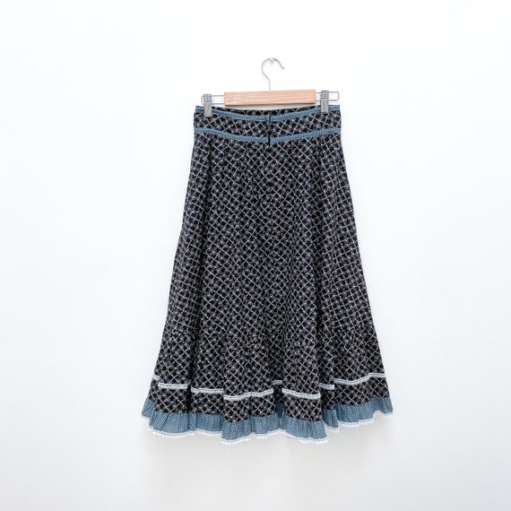 Gunne Sax Jessica's Gunnies Vintage Prairie Skirt… - image 2