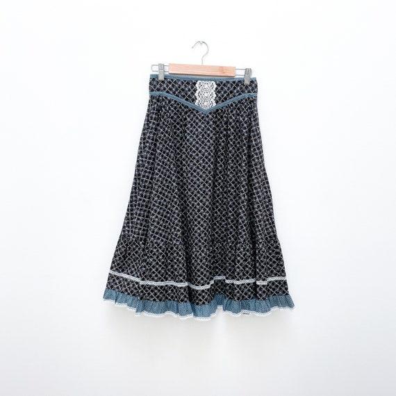 Gunne Sax Jessica's Gunnies Vintage Prairie Skirt… - image 8