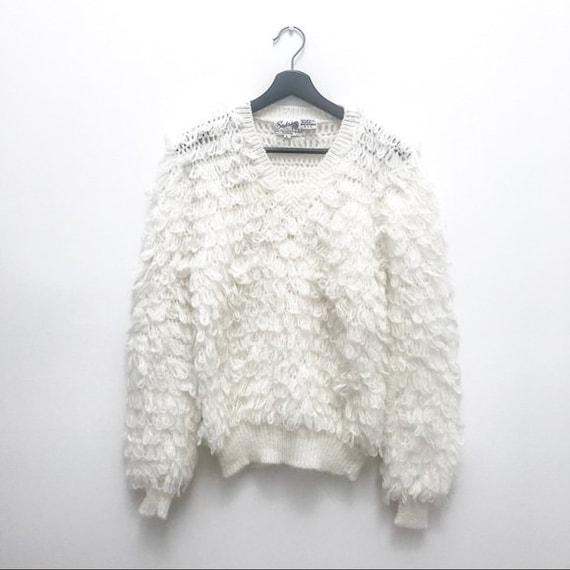 Vintage Oversized Fluffy Sweater