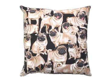 Pug Pillow Decorative Throw Pillow  Home Decor Bedding