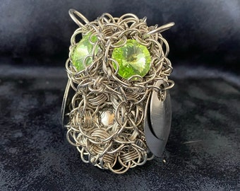 Chainmaille Owl - Hourglass Weave - Original Design!