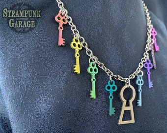 Key and Lock necklace - Custom Titanium and stainless steel!