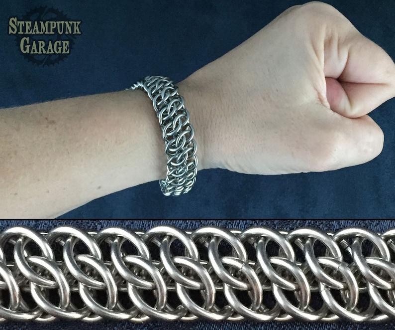 Steel or Titanium GSG Bracelet  Mens HEAVY DUTY Metal image 0