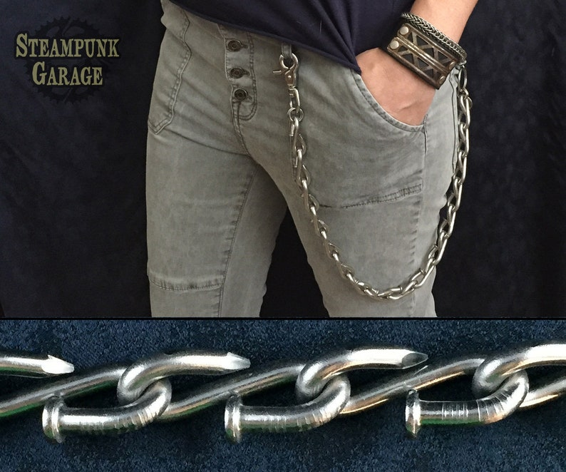 BIG Nail Wallet Chain  Stainless Steel Boot image 0