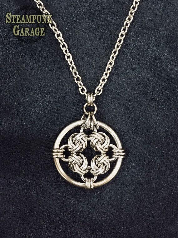 Triskele necklace Triskelion charm Trinity Druid Celtic Magic Knot 925 SILVER