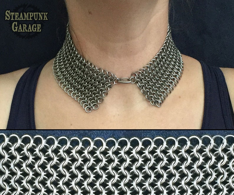 Peter Pan Collar  Slinky and Sexy  Stainless Steel or image 0