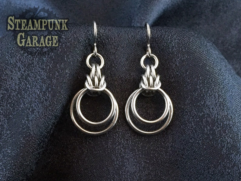 Scherzo Drop Earrings  Stainless Steel with Allergy-free image 0