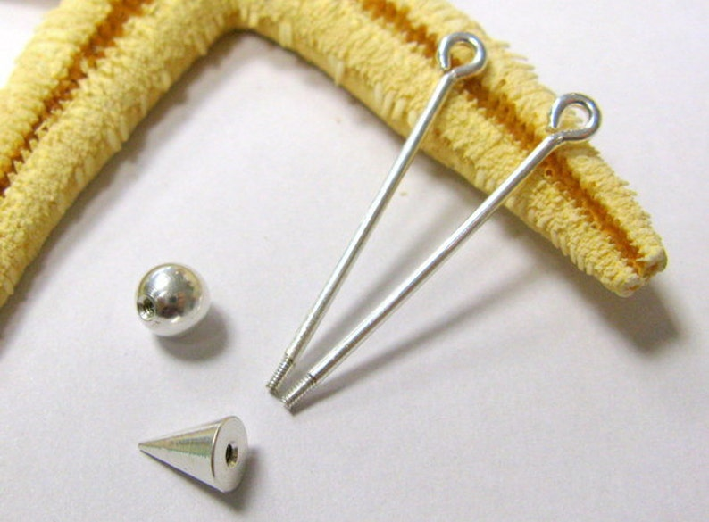 silver or gold color changeable pendant pins screwable pins equippable length 26mm 2pcs, 35mm