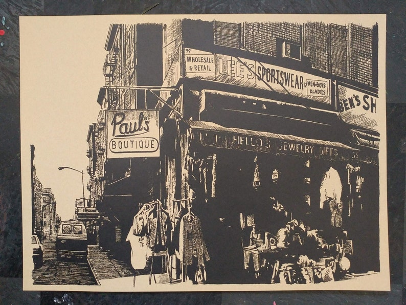 Screen printed Paul's Boutique Art Print Hand image 0