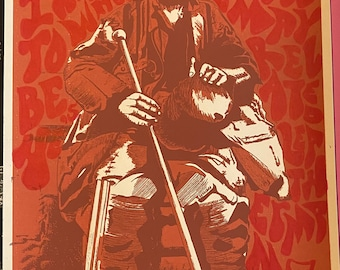 """One-of-a-kind doodled """"Return of Leatherman"""" Screen Printed poster by Brian Methe"""
