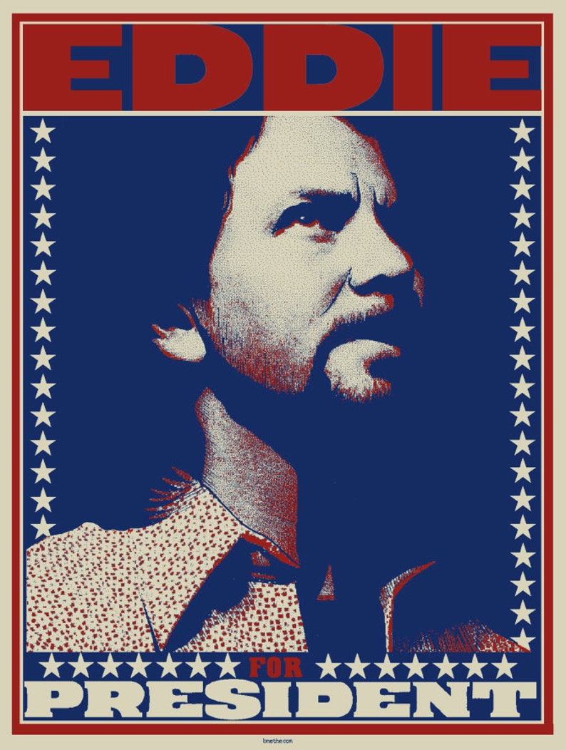 Eddie For President screen printed art print by Brian Methe image 0