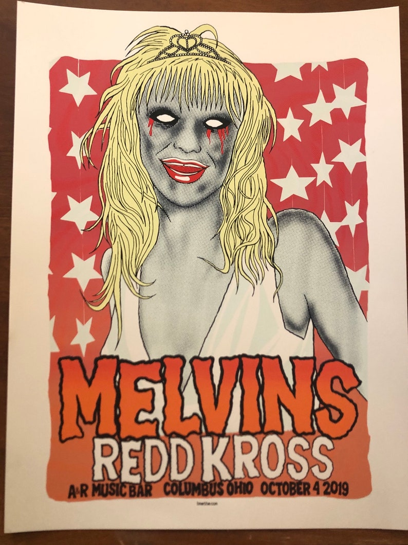Official Melvins Gig Poster Columbus Ohio 2019 image 0
