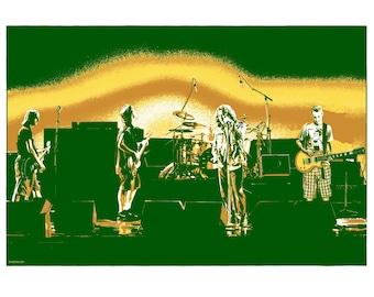 "Brian Methe LE Screen Printed Art Print ""5 Against 1"" Sonics Variant 2021 free US shipping"