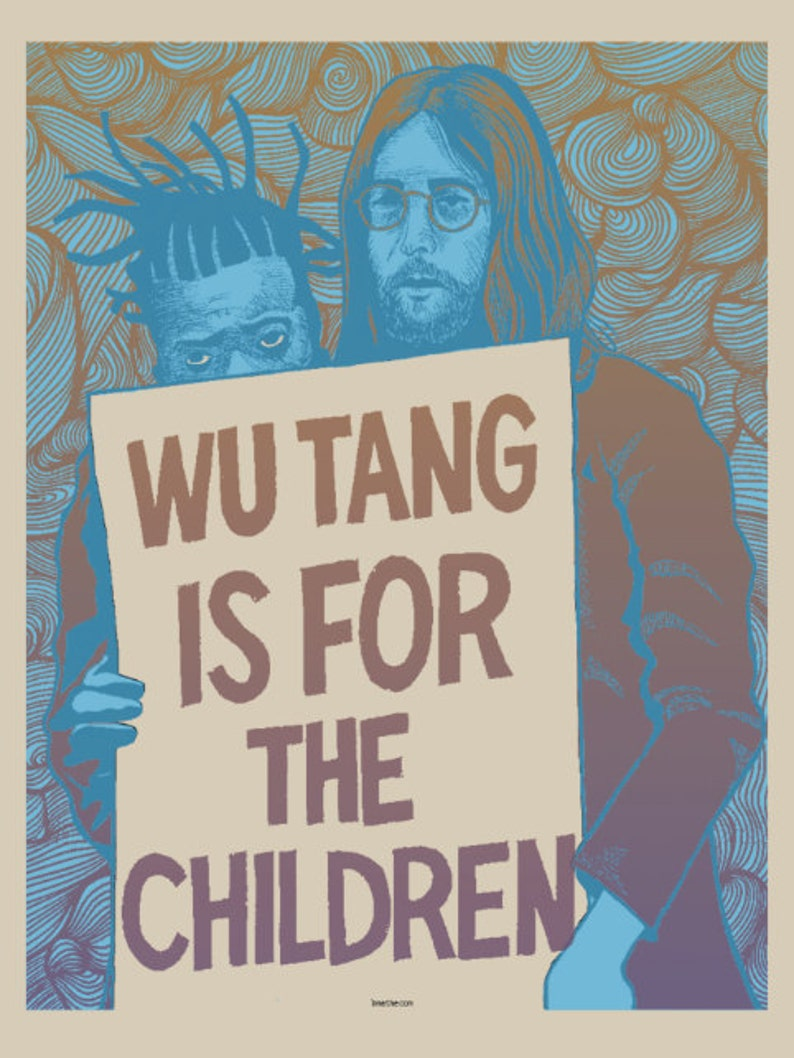 Wu Tang Clan themed screen printed art print The Heart image 0