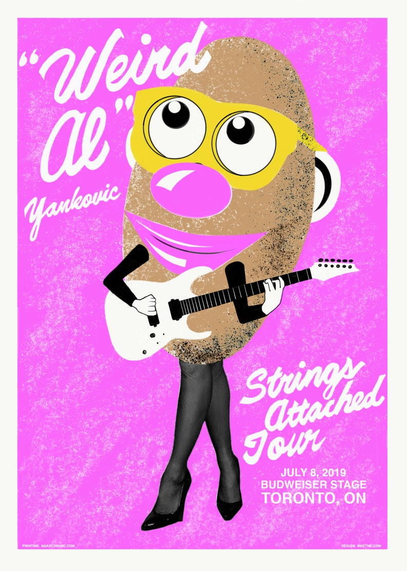 Official Weird Al Yankovic Screen Printed Poster Strings image 0