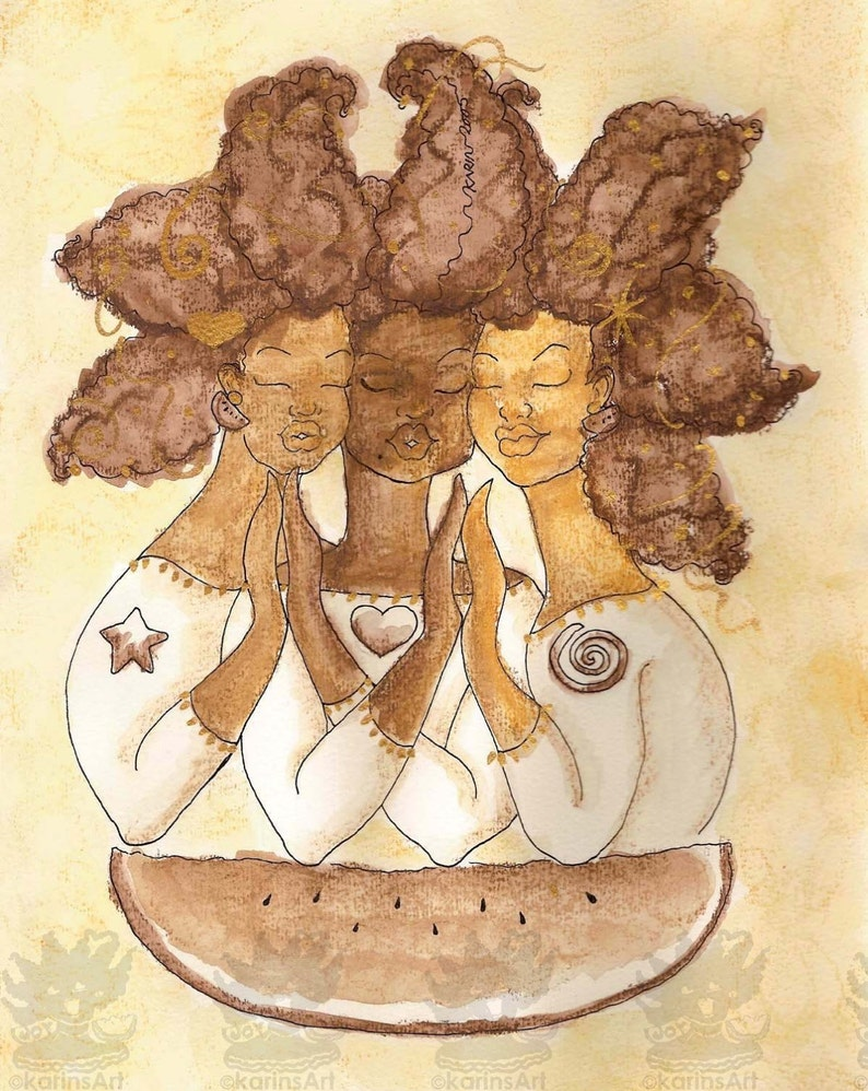 Print:11X14 16x20 20x30 True Self Sepia Trio Affirmation image 0