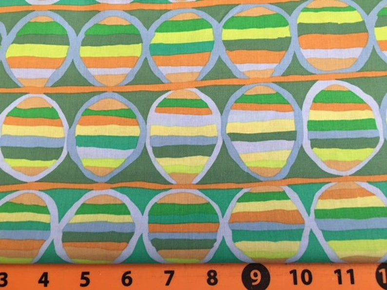 part of the Kaffe Fassett Collective Heat Wave in Green by Brandon Mabley Sale 2 yards