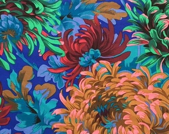 2 yds. Shaggy in Cobalt by Philip Jacobs for the Kaffe Fassett Collective