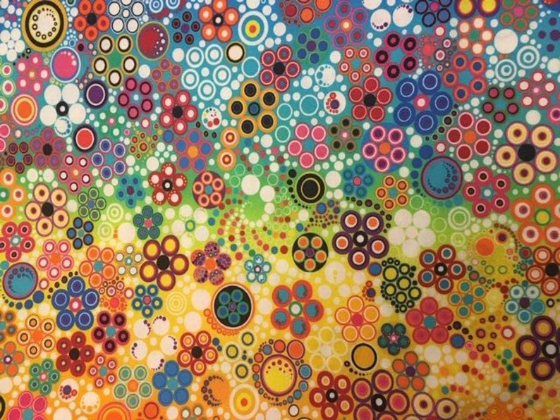 2 yds Effervescence ombre in Rainbow colors from Robert Kaufman