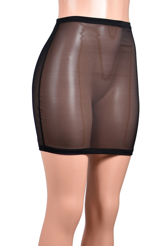 74e967995ff High-Waisted Black Mesh Mini Skirt size XS S M L XL 2XL 3xl