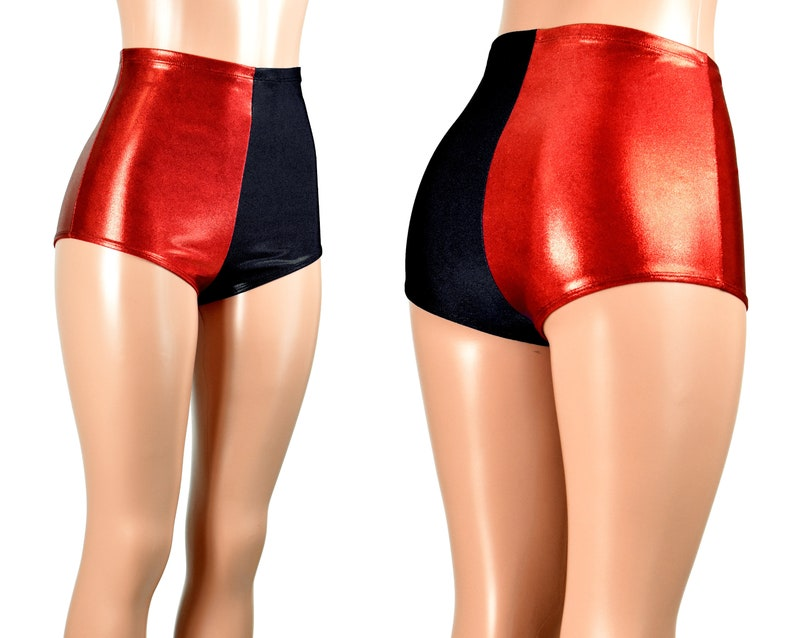 shorts harley and quinn Red black