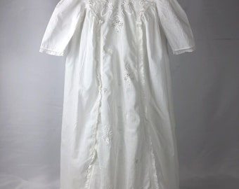 Vintage Baptismal Christening Gown with Pintucks
