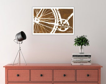 bicycle bike canvas art print home decor nursery wall art childrens kids office transportation art housewarming gift MORE COLORS AVAILABLE