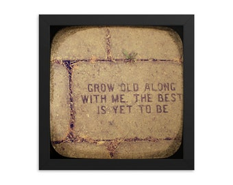 wedding art FRAMED grow old along with me ttv photo print wall decor engagement housewarming gift anniversary