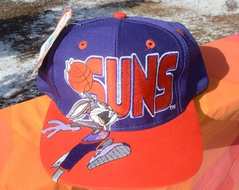 c38a840f85c vintage nwt 90s trucker hat PHOENIX SUNS snapback baseball cap looney tunes  space jam new tags