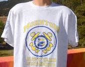 vintage 90s t-shirt MOHNTON swimming swim team free starter tee Large XL