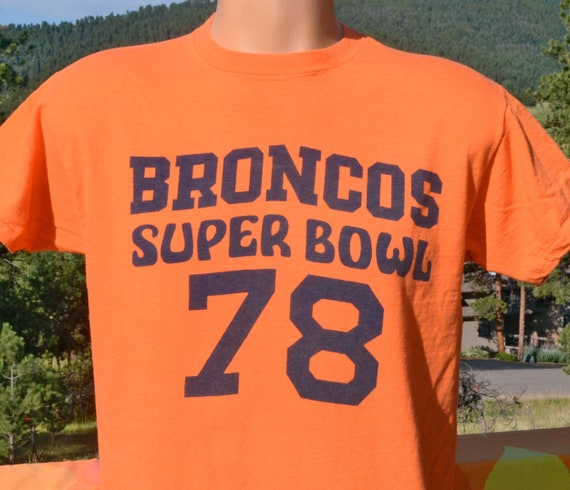 vintage 70s t-shirt denver BRONCOS football super