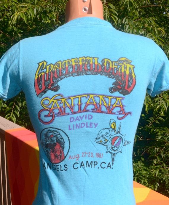 2ee047840 80s vintage t-shirt 1987 grateful DEAD santana concert | Etsy