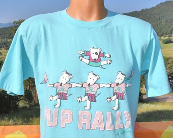 vintage 80s t-shirt HOBIE pup rally surf dog tee XL Large 1987