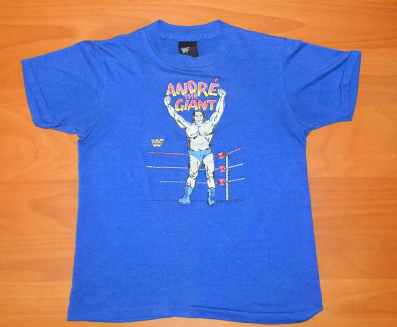 eb3a9ee7b 80s vintage tee ANDRE the giant wwf wrestling t-shirt Small XS | Etsy