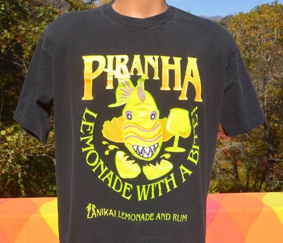 I Love Heart Piranhas Black Sweatshirt
