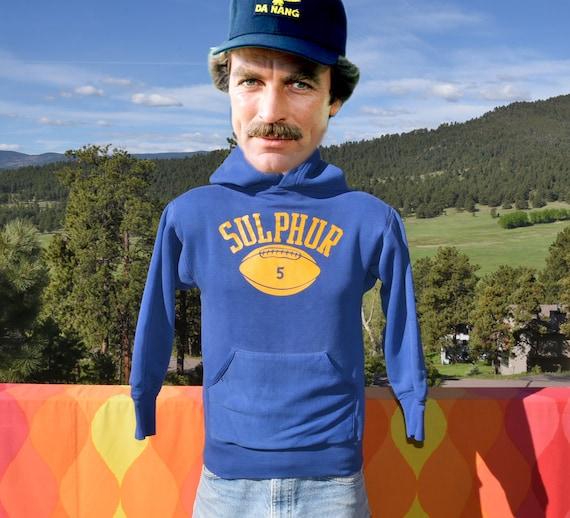vintage 70s hoody sweatshirt FOOTBALL sulphur Sma… - image 1