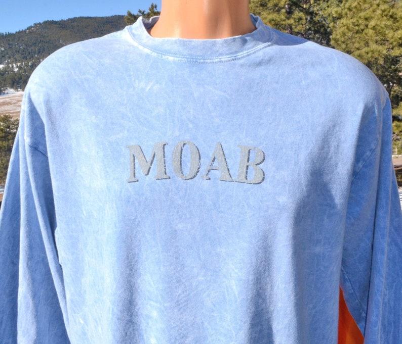 ee7b0874 Vintage 80s tee MOAB tie dye long sleeve t-shirt Large hanes | Etsy
