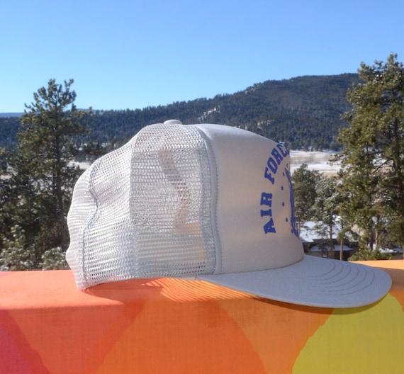 vintage 80s snapback baseball cap AIR FORCE academy mesh hat  8da5288527ec