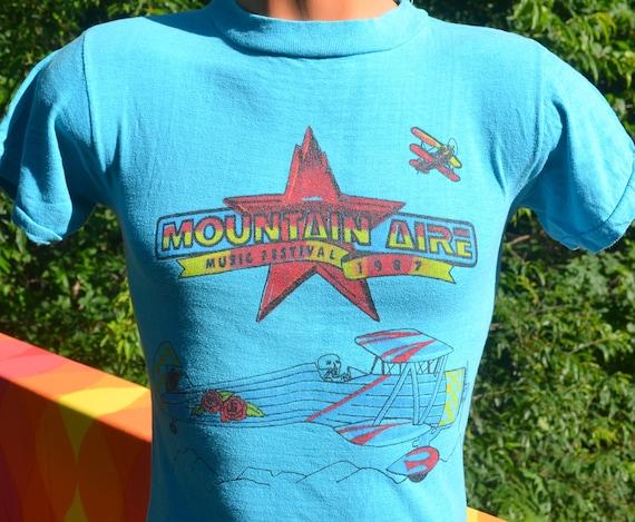 d3a4d4001 80s vintage t-shirt grateful DEAD santana concert mountain | Etsy