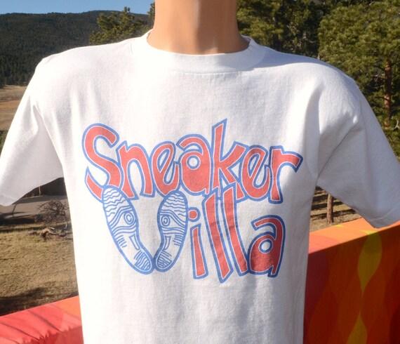 Vintage 80s Tee Sneaker Villa Running Shoes Hip Hop T Shirt Etsy