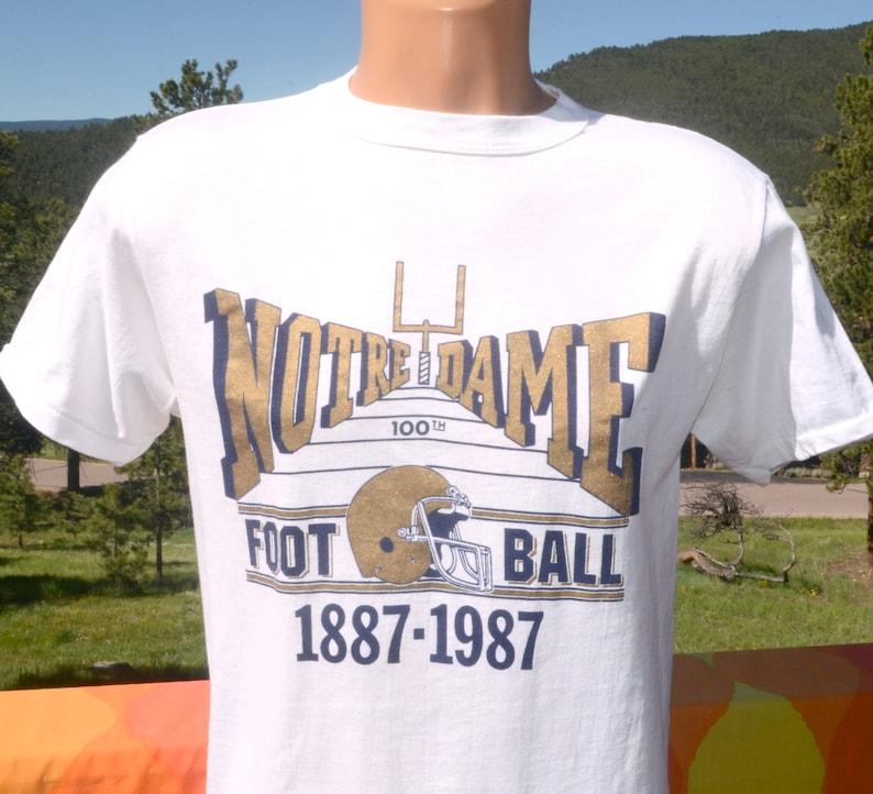 vintage 80s t shirt NOTRE DAME football fighting irish tee Medium Large champion