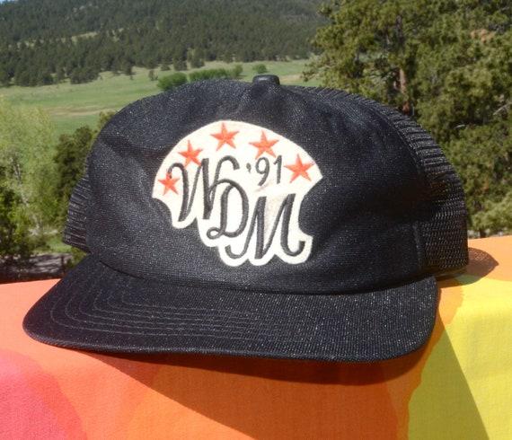 cb709a627fe 90s vintage baseball hat WDM west des moines mesh trucker cap
