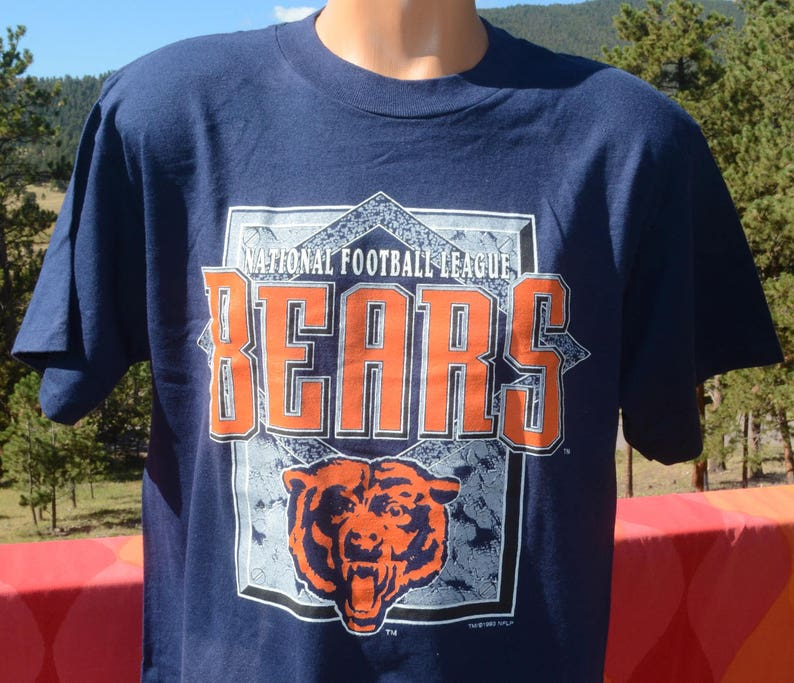f71d62cc vintage new 90s t-shirt chicago BEARS nfl football tee Large Medium nwt  deadstock