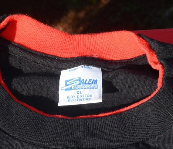 35603403061714 vintage 90s t-shirt CHICAGO BULLS basketball nba black roll up