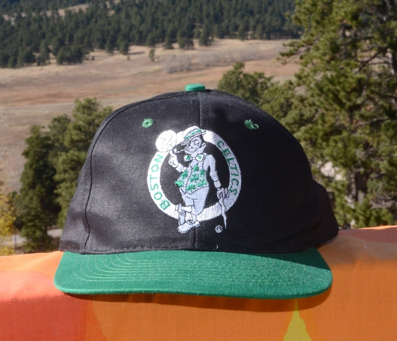 5f4e7186 Vintage 90s snapback trucker hat BOSTON CELTICS nba basketball | Etsy
