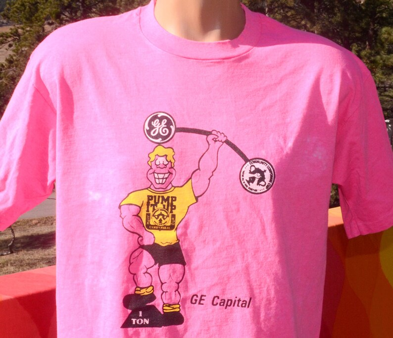 bb5364c1bd034f Vintage 80s t-shirt GE CAPITAL corporate cup bank olympics