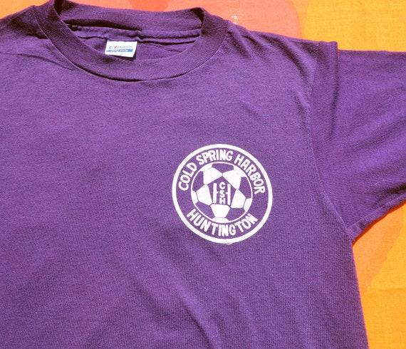 4ca25f860addc vintage 80s kids t-shirt COLD SPRING harbor soccer huntington