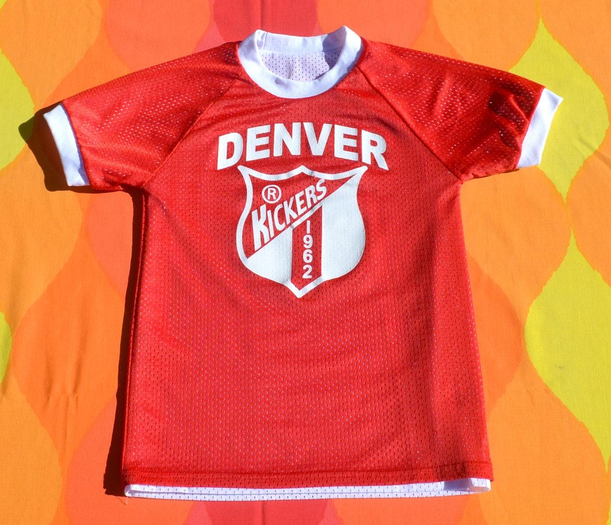 Denver Kickers: Vintage 80s Kid's T-shirt Soccer Jersey DENVER Kickers